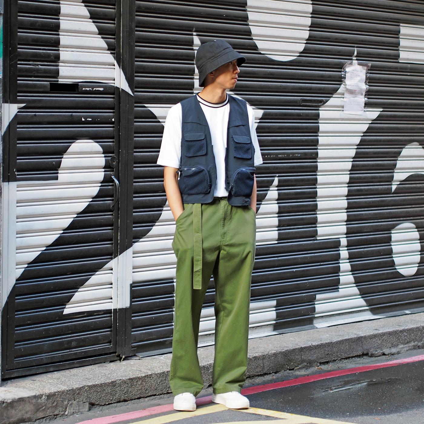 搭配,街拍,穿搭,換季穿搭,搭配提案,服裝,釣魚背心,寬褲,COP