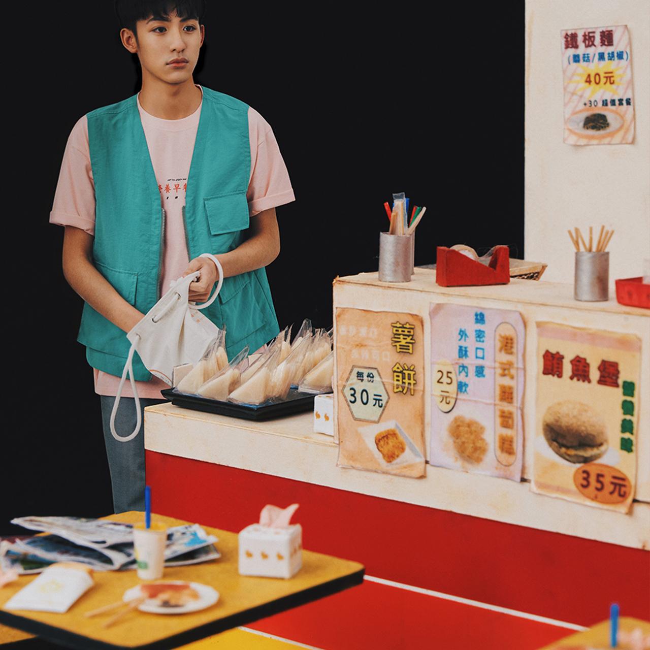 早餐店,營養早餐店,JNP紀念品,台灣味,早餐店菜單,早餐店奶茶,早餐店蛋餅,台灣早餐店,台灣早餐,麥麥早餐,袖珍手作模型,袖珍模型,模型藝術家,模型,Jennifer Wang